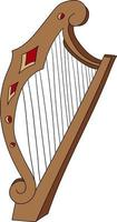 harp cute icon perfect for music design project vector