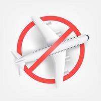 Flight cancelled concept vector