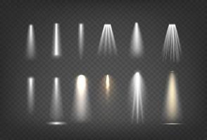 conjunto de efectos de luz vector