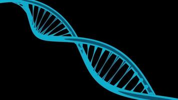 3D DNA for medical research or the study of the genetics of living organisms video