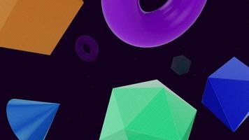 Beautiful floating geometric object abstract background video