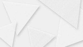 Modern beautiful white clean abstract triangular shape background video