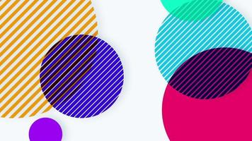 Abstract multicolored circle background with slanting line patterns video
