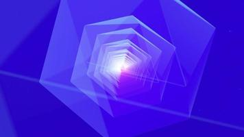 Tunnel style geometric object background or VJ concept video