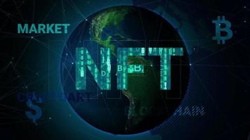 Cryptocurrency trading or an art business that takes place on the internet technology  NFT video