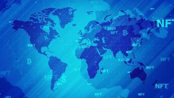 Cryptocurrency trading or an art business that takes place on the internet technology video