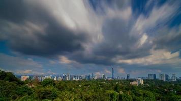 Kuala Lumpur city view during cloudy day photo