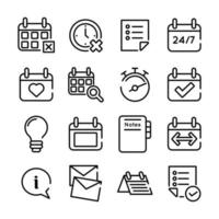 bundle of sixteen calendars set collection icons vector