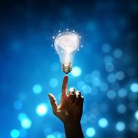 Business bright idea concept photo