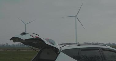 Two Rotating Wind Generator video