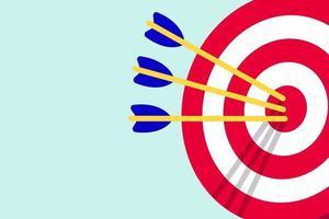 Target icon aim desk isolated on light blue background vector illustration
