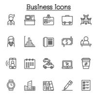 Business icon set in thin line style vector