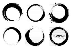 Grunge style set of circle shapes  Vector