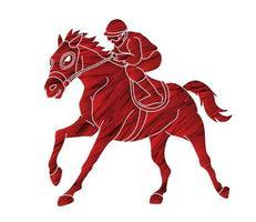 Silhouette Jockey Sport vector