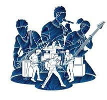 Silhouette Music Band vector
