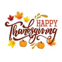 thanksgiving greeting card template vector
