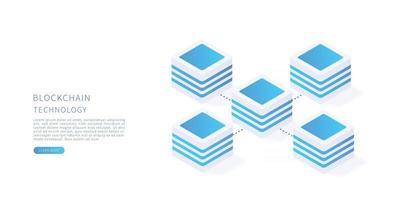 Blockchain Blockchain technology concept in isometric vector