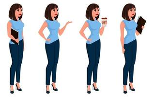 Business woman in office clothes vector