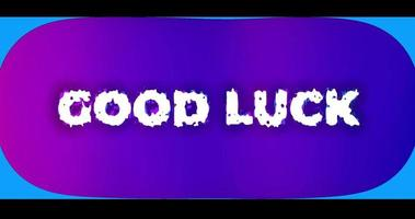 effet de texte d'animation bonne chance avec canal alpha video