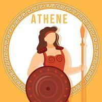maqueta de publicación de redes sociales de athene orange vector