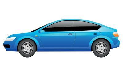 Blue sedan cartoon vector illustration