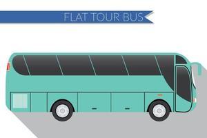 Flat design vector illustration city Transportation, Bus, intercity, long distance tourist coach bus, side view