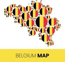 Belgium map filled with flag shaped circles vector
