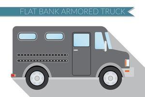 Flat design vector illustration city Transportation, bank armored Truck, side view