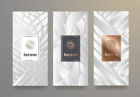 Vector set packaging templates geometric pattern for luxury products