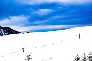Blue sky and snow photo