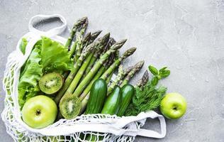 concepto de comida vegetariana saludable foto