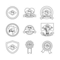 paquete de iconos del día de la independencia de brasil vector