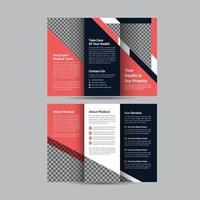 Health Care Trifold Brochure Template vector