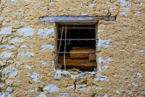 Old worn window photo