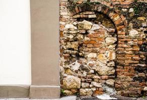 Brick and modern wall photo