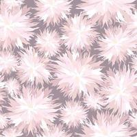 Patrón floral sin fisuras flor crisantemo ornamental textura oriental con fondo de jardín de flores vector