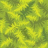 Floral leaves seamless pattern Foliage garden background Floral ornamenal tropical nature summer palm leaves decorative retro style wallpaper vector