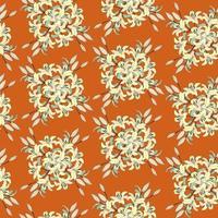 Floral pattern Flower seamless background Flourish ornamental garden with lilies flower bouquet vector