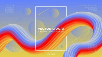 Elegant fluid abstract background vector