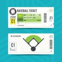 Baseball Ticket Card modern element design Vector illustration