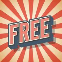 Free Background Retro poster Vector illustration