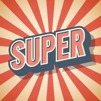 Retro poster Super Speech Vector illustration