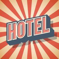 Retro poster Hotel Label Vector illustration
