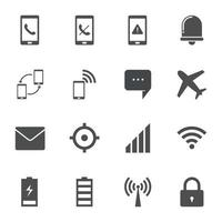 Smartphone Notifications Icons Sign Vector illustration