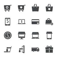 Shopping online icons sign Vector illustration