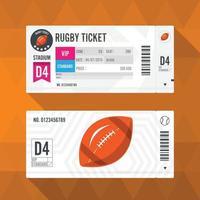 Rugby Ticket Card modern element design Vector illustration