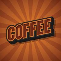 Coffee retro sunburst poster Vector illustration