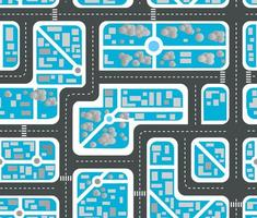 Seamless repeating background urban pattern vector