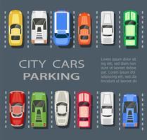 city parking lot vector