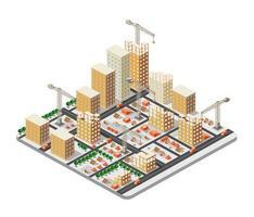 Crane construction industry vector